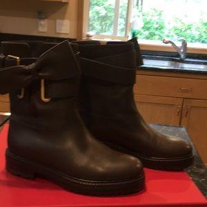 Valentino Bow Wrap Biker Boots